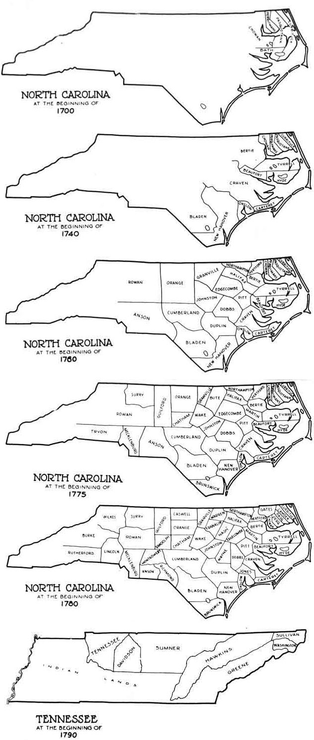 North Carolina 1700-1790